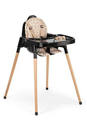 Woodie Ahşap Ayaklı Minderli Oyuncaklı Mama Sandalyesi