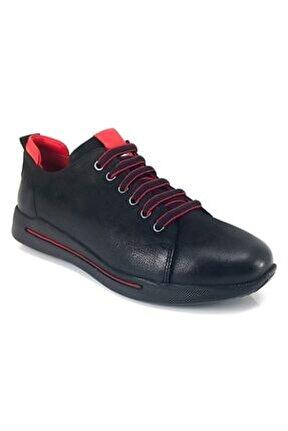 2104901 Günlük Kadın Ayakkabı-Siyah Nubuk