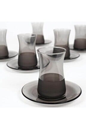 Matte 12 Parça Çay Seti - Füme/132 Ml