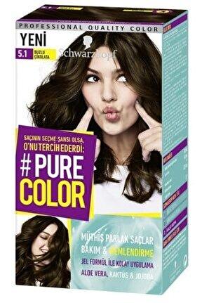 Pure Color Saç Boyası - 5.1 Buzlu Çikolata