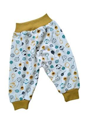 Pamuklu Desenli Bebek Pijaması