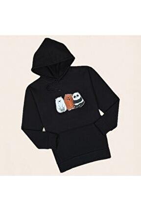 Siyah Panda Sweatshirt