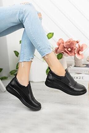 Hakiki Deri Günlük Kadın Ayakkabı Sonbahar / Kış Sezon