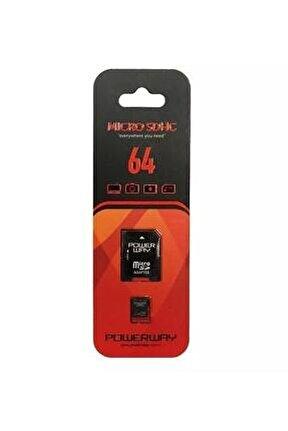64 Gb Microsdhc Class 10 Hafıza Kartı Adaptör