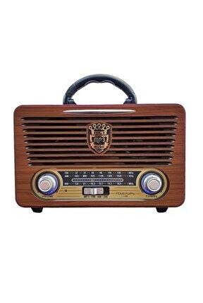 Nsj05 Nostalji Radyo Bluetooth Şarjlı Nostaljik Usb Sd