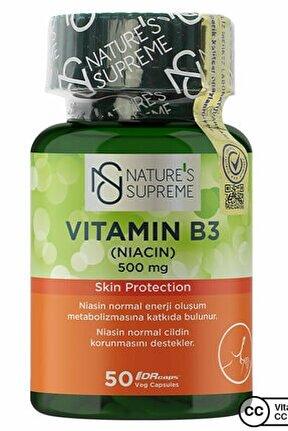 Vitamin B3 500 Mg (no Flush) 50 Kapsül