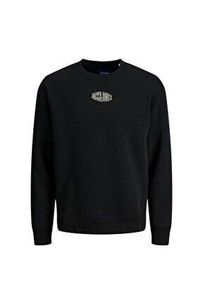 Erkek Siyah Sweatshirt Jorworld Sweat Crew - 12194083