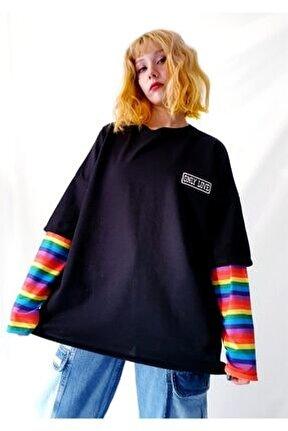 Only Love Rainbow Kol Oversize Sweatshirt
