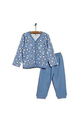 Basic Önden Çıtçıtlı Pijama Takımı