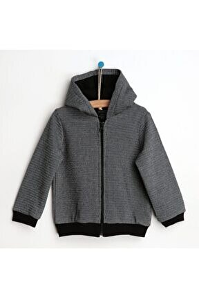 Fermuarlı Kapüşonlu Sweatshirt - Tekli