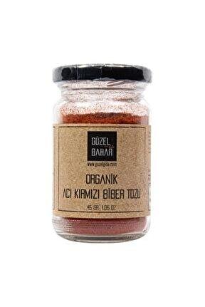 Güzel Ada Organik Acı Kırmızı Biber Tozu 45 gr