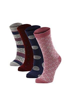 4'lü Kadın Soket Çorap