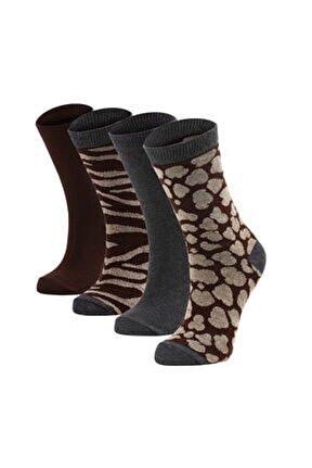 Kadın 4'lü Soket Çorap