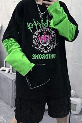 Yeşil Kol Unidrone Oversize Sweatshirt