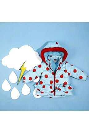 Kız Bebek Uğurböceği Desenli Mont