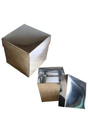 Komple Karton Kutu 15x15x15 (10 Adet ) Gümüş