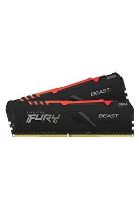 Fury Beast Rgb Kf432c16bbak2/16 16gb (2x8gb) Ddr4 3200mhz Cl16 Siyah Gaming Ram (bellek)