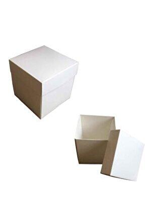 Komple Karton Kutu 15x15x15 (10 Adet ) Beyaz