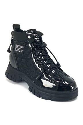 30110 Günlük Bayan Sneaker Ayakkabı-siyah
