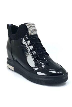 393 Günlük Sneaker Ayakkabı-siyah Rugan