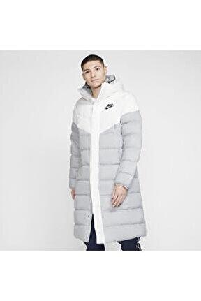 Erkek Beyaz Sportswear Down-fill Windrunner Kapüşonlu Parka Cu0280-100