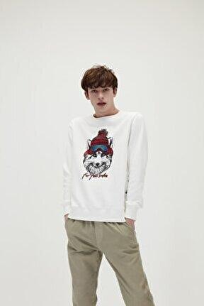 21.02.12.006 Snowfox Crewneck Erkek Sweat Shirt