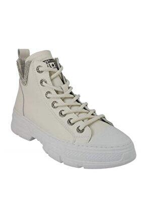 3904 Günlük Bayan Sneaker Ayakkabı-beyaz