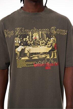 Hotter Than Hell Khaki T-shirt