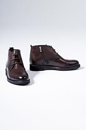 Hakiki Deri Erkek Bot Klasik Model Kışlık Ayakkabı