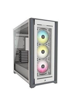 Icue 5000x Rgb Temperli Cam Mid-tower Atx Bilgisayar Kasası - Beyaz