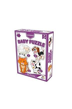 2 + 3 + 4 + 5 Parça Baby Puzzle: Hayvanlar