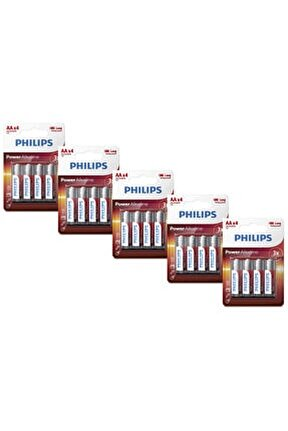 Lr6p4b/05 Power Alkaline Aa X4 Pil (x5 Adet)