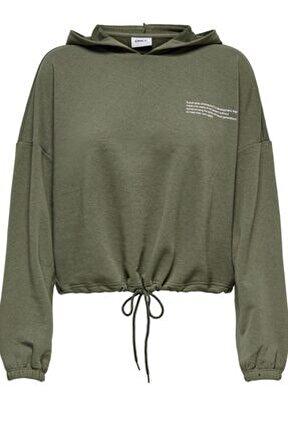 15249424 Onlnature Lıfe L/s Crop Hood Swt Kadın Sweatshirt