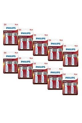 Lr20p2b/05 D Power Alkaline Batteries, 1.5v 2li Pil (x10 Adet)
