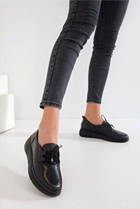 Kadın Deri Comfort Bağcıklı Ayakkabı