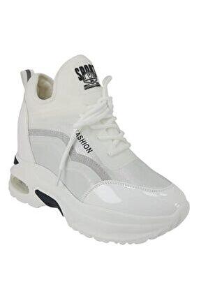 3004 Günlük Bayan Sneaker Ayakkabı-beyaz