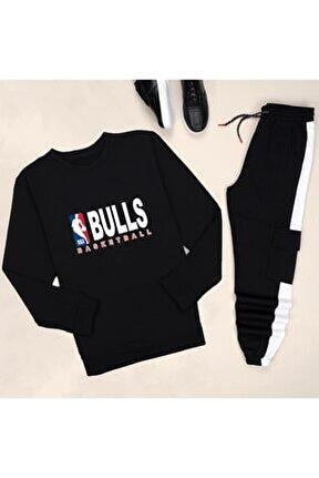 Siyah Bulls Eşofman Takımı