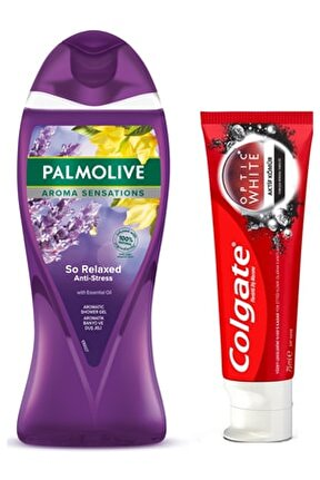 Colgate Optic White Aktif Kömür + Aroma Sensatıons Duş Jeli