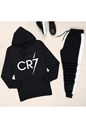 Siyah Cr7 Eşofman Takımı