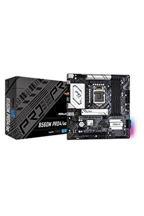 B560m Pro4/ac Lga 1200 Intel Sata 6gb/s Micro Atx Anakart
