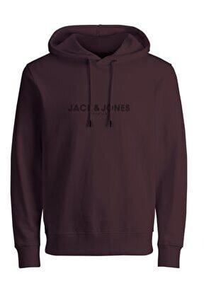 Jack Jones Blabooster Sweat Hood September 2021 Erkek Bordo Sweatshirt 12201561-18