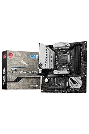 Mag B560m Mortar Wıfı Intel B560 Soket 1200 Ddr4 5066(oc)mhz Matx Gaming (oyuncu) Anakart