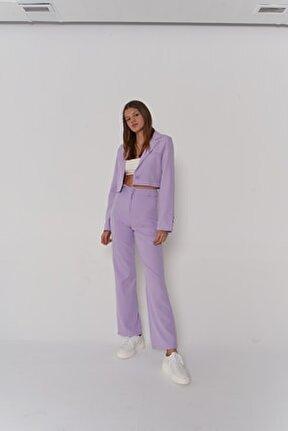 Kadın Lila Yüksek Bel Panky Pantolon