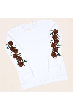 Beyaz Kol Rose Sweatshirt