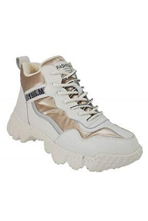 394 Günlük Sneaker Bayan Ayakkabı-altın
