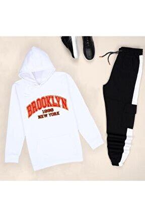 Beyaz Brooklyn Eşofman Takımı