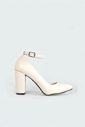 Günlük Topuklu Ten Kadın Ayakkabı R-b07