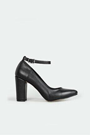 Günlük Topuklu Siyah Kadın Ayakkabı R-b07