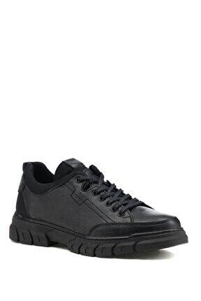 Nagla.m 1pr Deri Siyah Erkek Günlük Ayakkabı