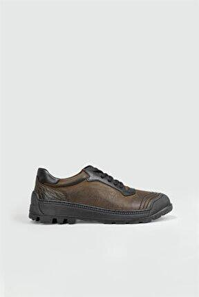 Günlük Casual Deri Haki Nubuk Erkek Ayakkabı 3178